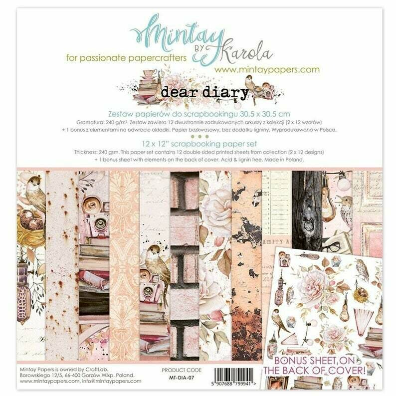 Mintay by Karola - Dear Diary - 12 x 12 Collection Pack