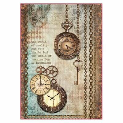 Clock and Keys A4 - Stamperia Clockwise