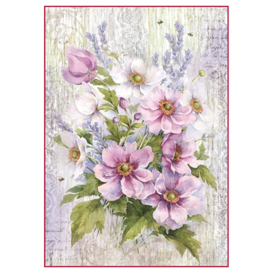 LIMITED STOCK Lilac Bouquet - A4 -Stamperia Rice Paper
