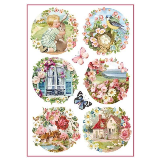 Floral Landscapes - A4 -Stamperia Rice Paper