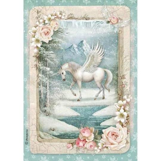 Unicorn - A4 -Stamperia Rice Paper