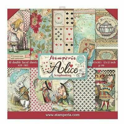 Stamperia Alice - 12 x 12 Paper Pad