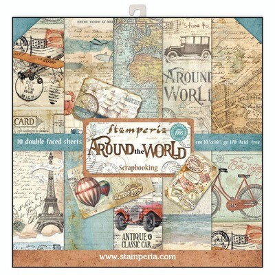 Stamperia Around the World - 12 x 12 Paper Pad