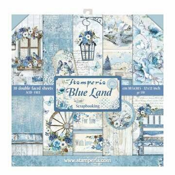 Stamperia Blue Land- 12 x 12 Paper Pad