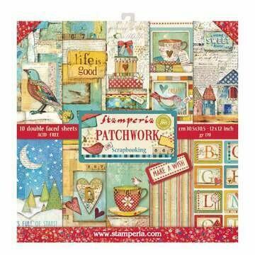 Stamperia Patchwork - 12 x 12 Paper Pad