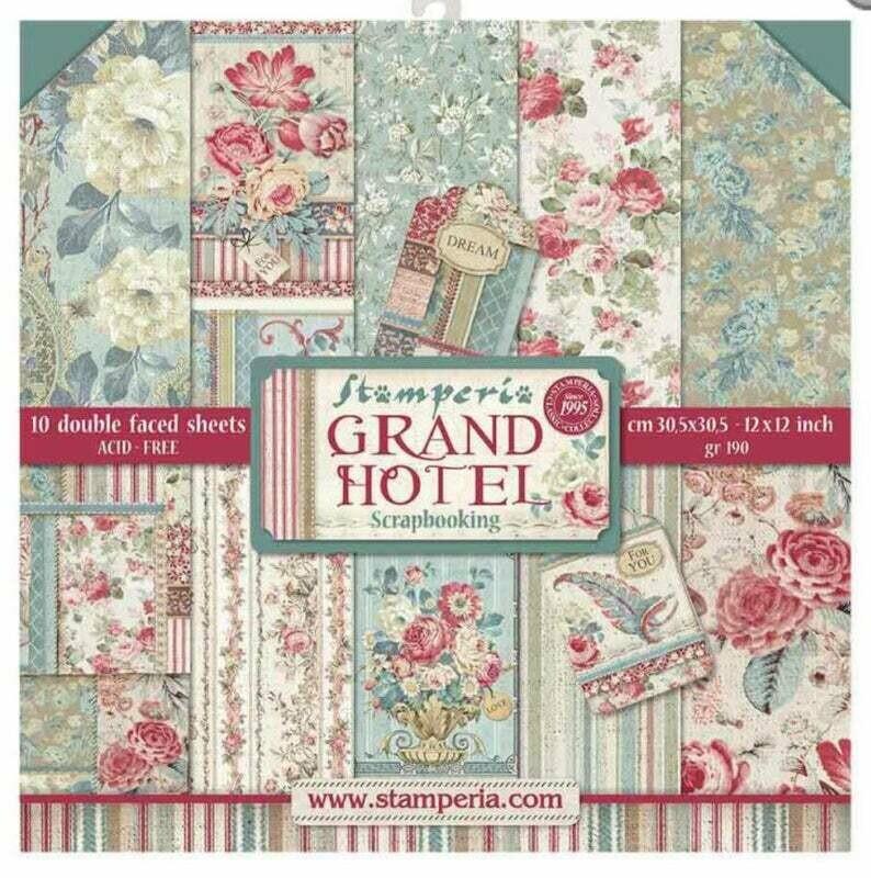 Stamperia Grand Hotel - 12 x 12 Paper Pad