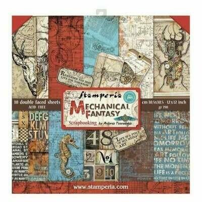 Stamperia Mechanical Fantasy - 12 x 12 Paper Pad