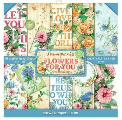 Stamperia Flowers for You - 8 x 8 Paper Pad