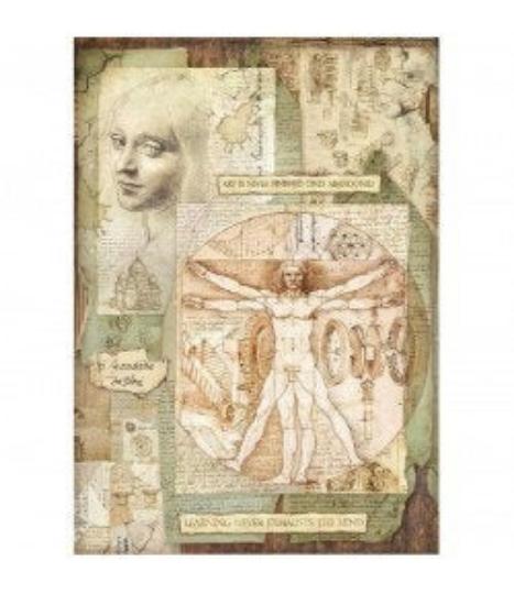 Leonardo Vitruviano - A3 -Stamperia Rice Paper