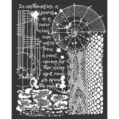 Cosmos Python Effect - Thick Stencil -Stamperia
