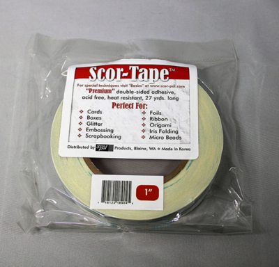 "Scor-tape 1"" - Double Sided Tape - 1 inch"