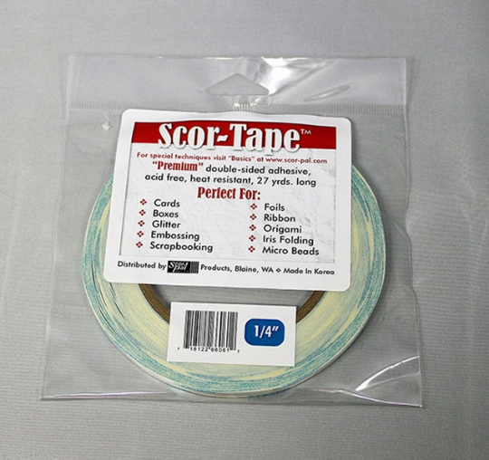 """Scor-tape 1/4"""" - Double Sided Tape - 1/4 inch"""