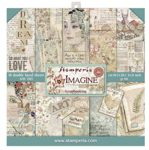 Stamperia Imagine - 8 x 8 Paper Pad
