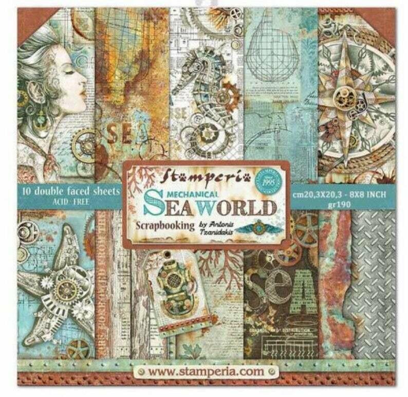 Stamperia Sea World - 8 x 8 Paper Pad