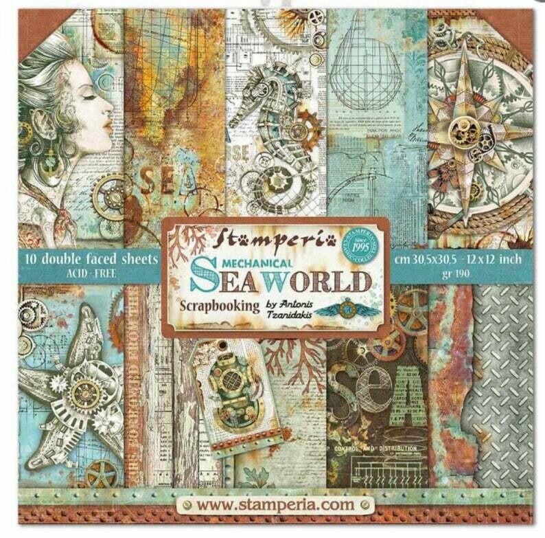 Stamperia Sea World - 12 x 12 Paper Pad