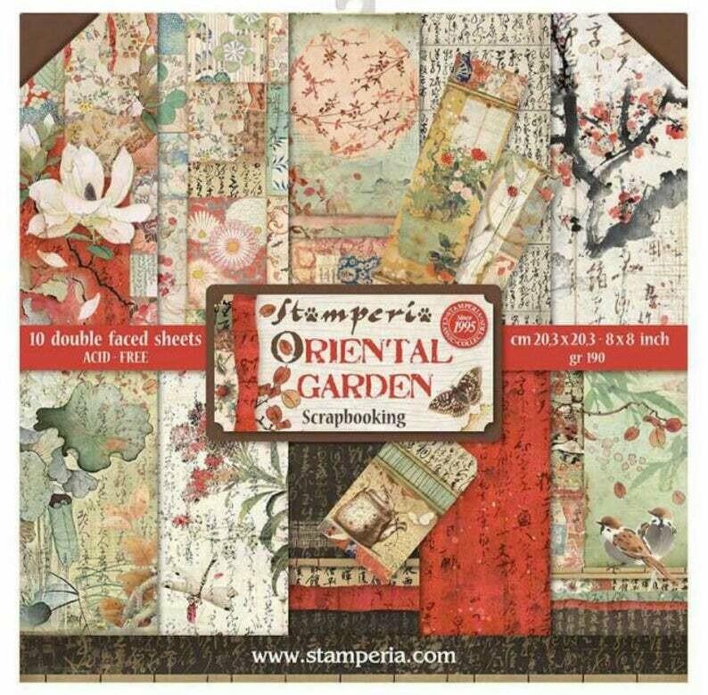 Stamperia Oriental Garden - 8 x 8 Paper Pad