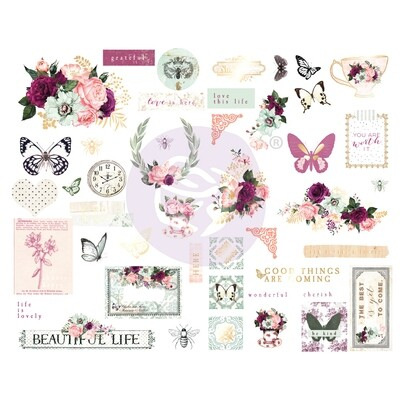 Pretty Mosaic Collection Chipboard - Prima
