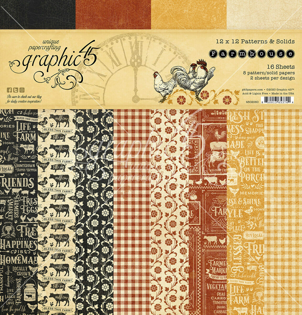 Farmhouse 12x12 Patterns & Solids - Farmhouse Collection - Graphic 45