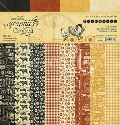 Farmhouse 12x12 Patterns & Solids - Farmhouse Collection - Graphic 45