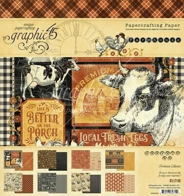 Farmhouse 8x8 Paper Pad - Farmhouse Collection - Graphic 45