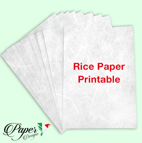 Printable Rice Paper - A4 -Paper Designs