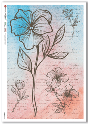 Flowers - 0353 - A4 Rice Paper - Paper Designs