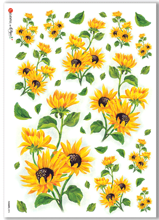 Flowers - 0094 - A4 Rice Paper - Paper Designs