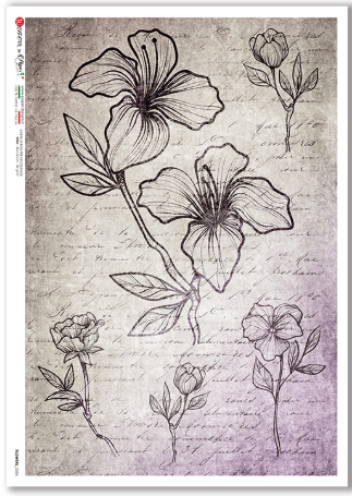 Flowers - 0354 - A4 Rice Paper - Paper Designs