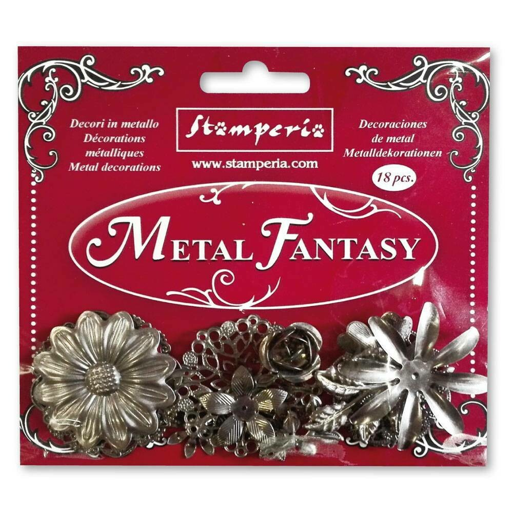 Flowers - Metal Fantasy Selection -Stamperia Embellishments