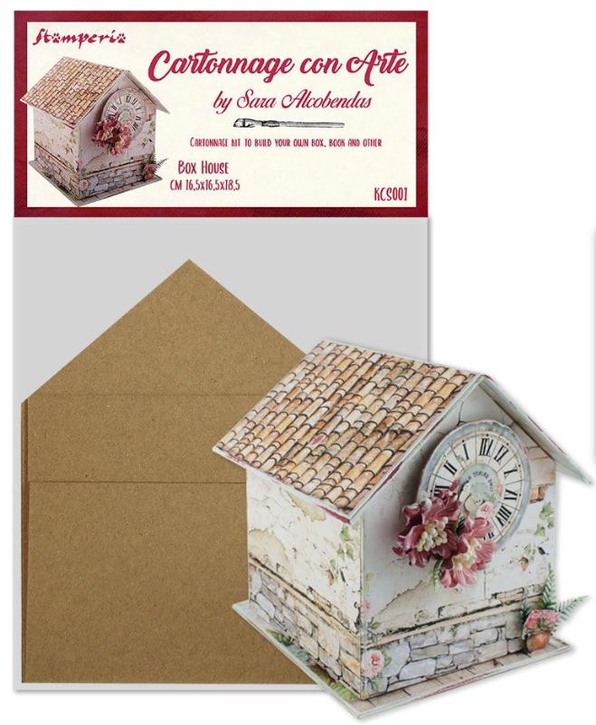 Box House - Cartonnage Kit - Stamperia