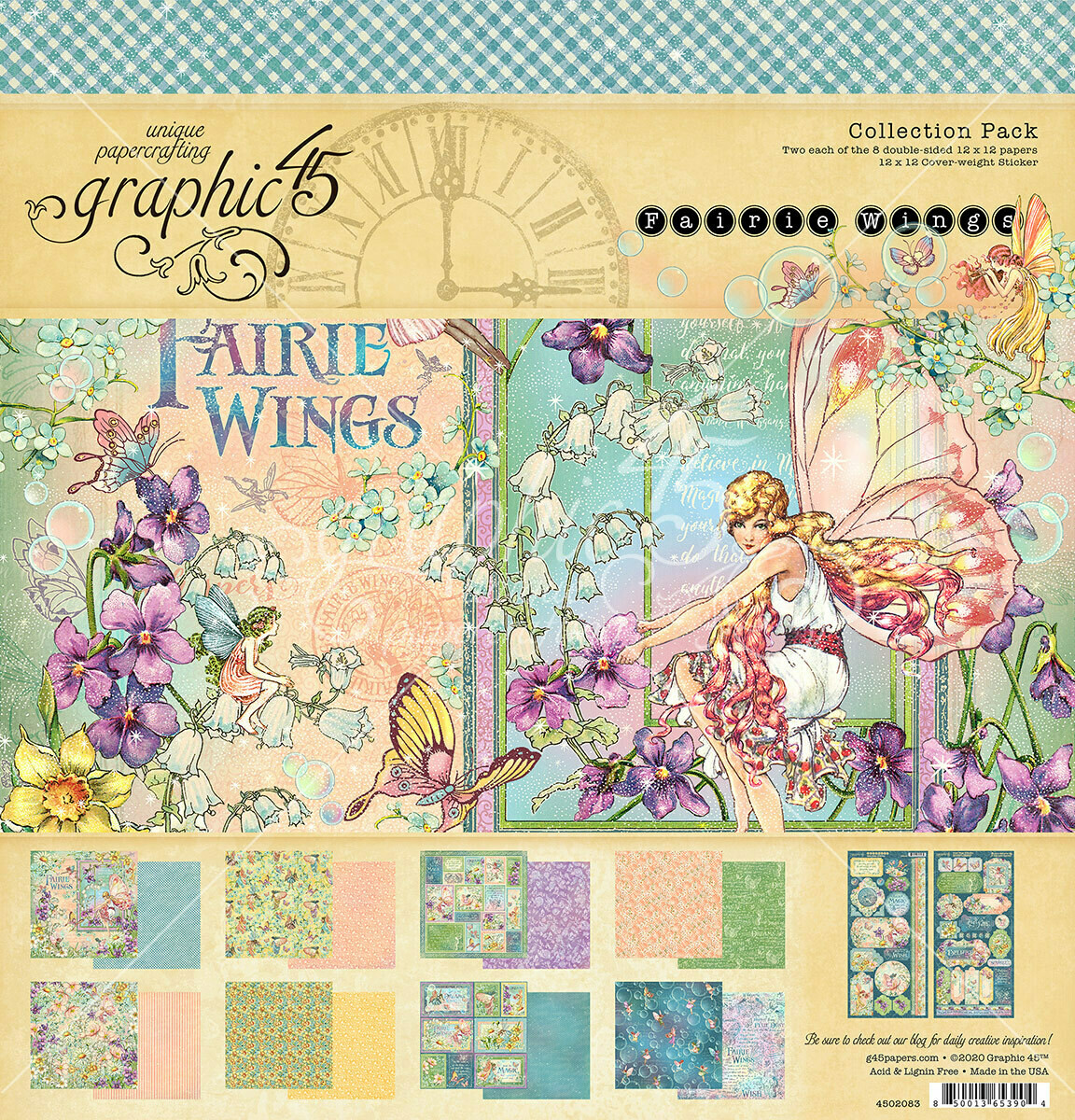 Fairie Wings - 12x12 Collection Pack w/ Stickers - Graphic 45