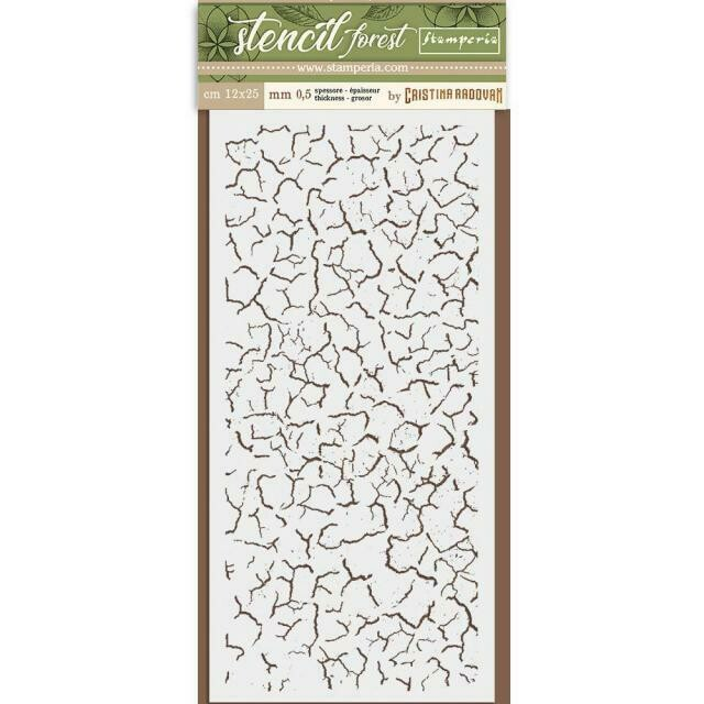 Crackle Stencil - Forest Stencil - Stamperia