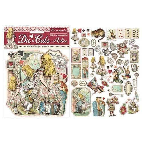 Alice Die Cut Assortment - Stamperia