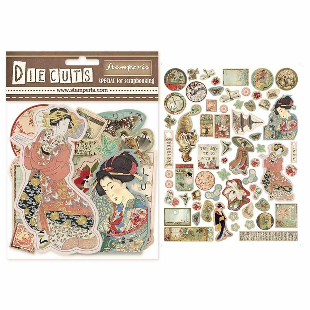 Oriental Garden Die Cut Assortment - Stamperia