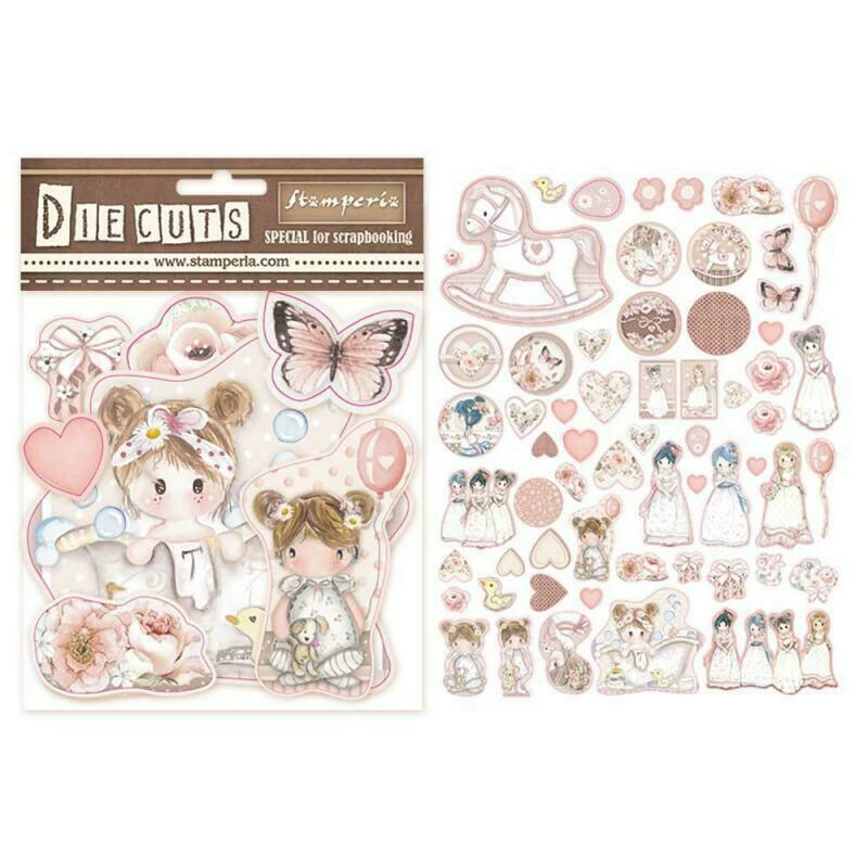 Little Girl Die Cut Assortment - Stamperia