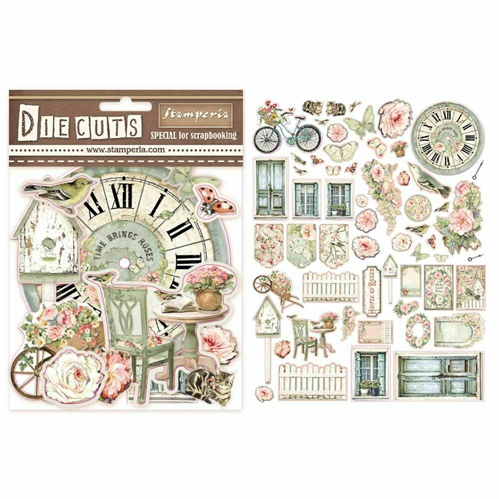 House of Roses Die Cut Assortment - Stamperia
