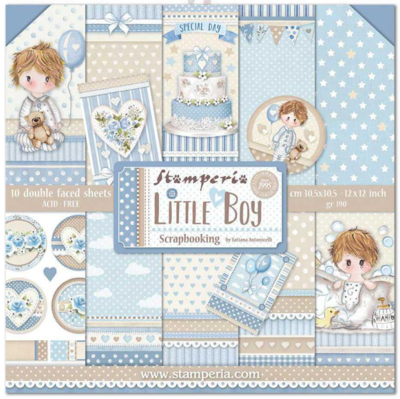 Little Boy 12x12 Paper Pad - Stamperia
