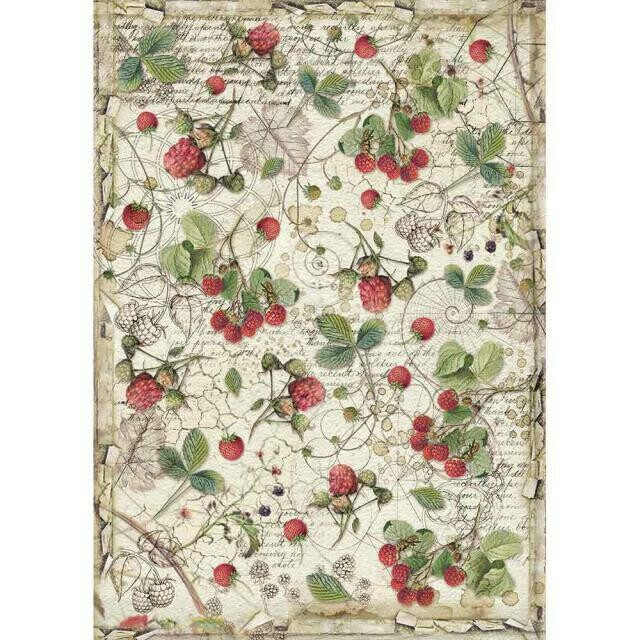 Forest Raspberry A4 Rice Paper - Stamperia
