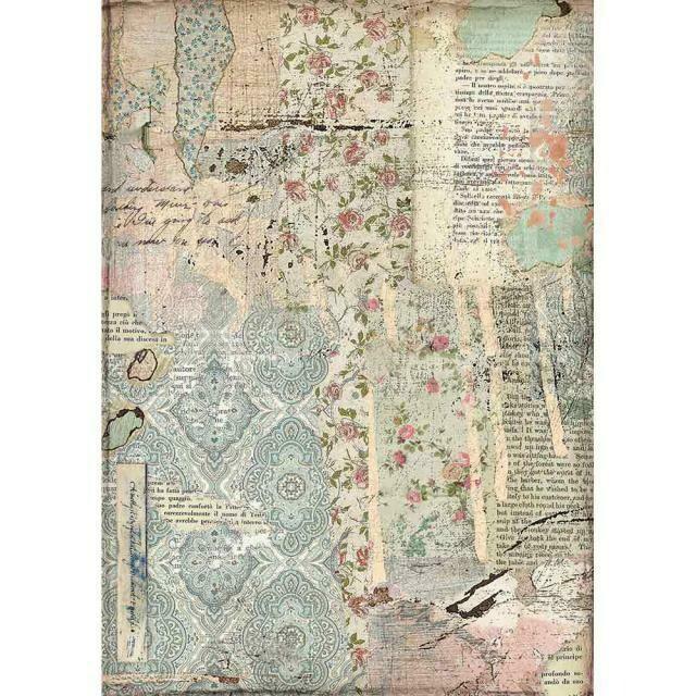 Imagine Wallpaper A4 Rice Paper - Stamperia