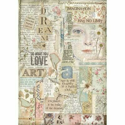 Imagine Love Art A4 Rice Paper - Stamperia