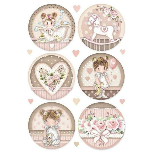 Little Girl Round A4 Rice Paper - Stamperia