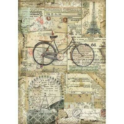 Bicycle A4 Rice Paper - Stamperia