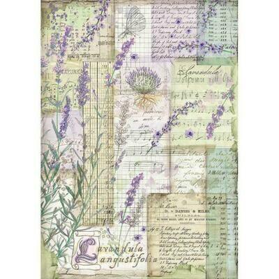 Lavender Fantasy A4 Rice Paper - Stamperia