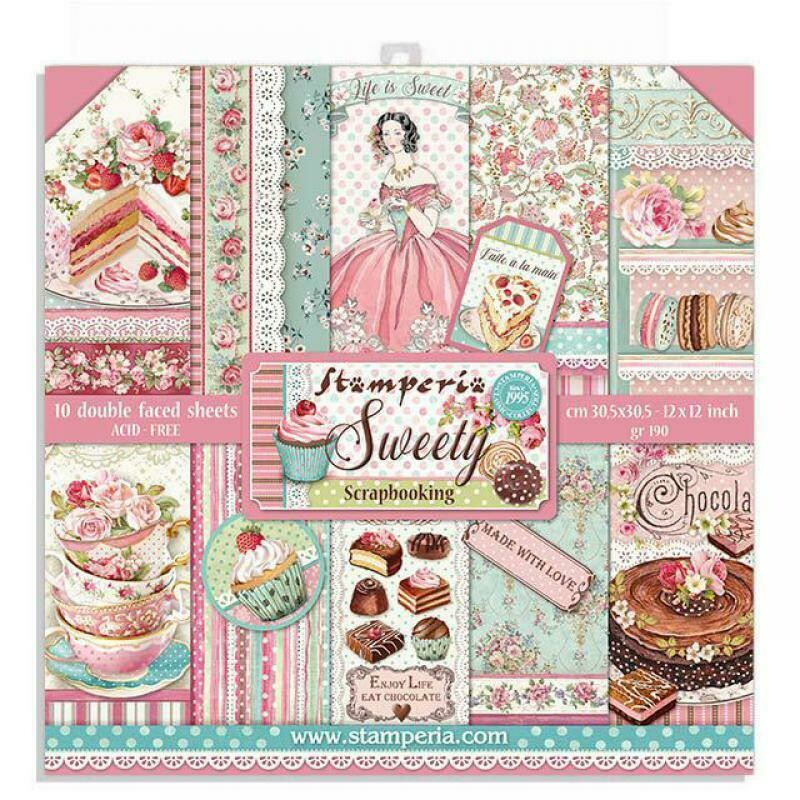 Sweety 12x12 Paper Pad - Stamperia