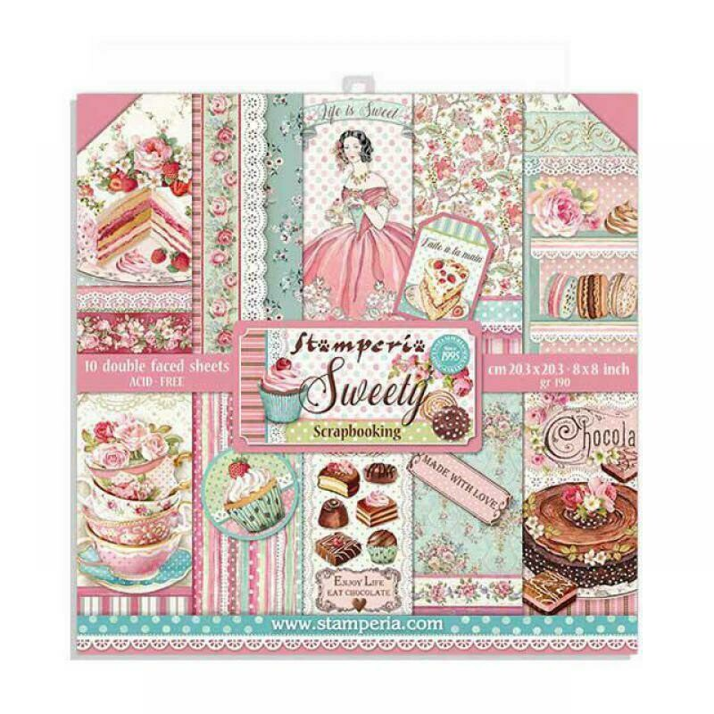 Sweety 8x8 Paper Pad - Stamperia