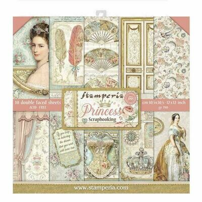 Princess 12x12 Paper Pad - Stamperia