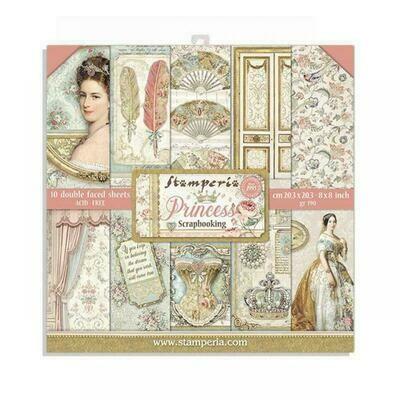 Princess 8x8 Paper Pad - Stamperia