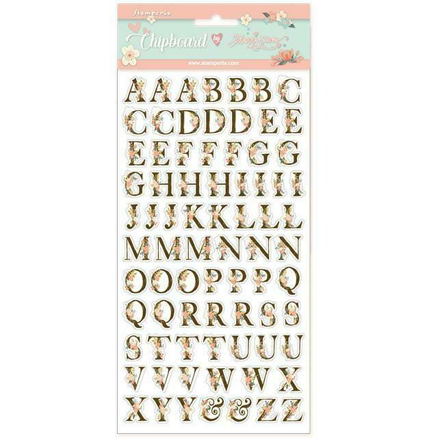 Love Story Alphabet Chipboard - Stamperia