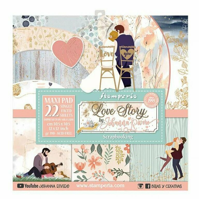 Love Story 12x12 Maxi Paper Pad - Stamperia