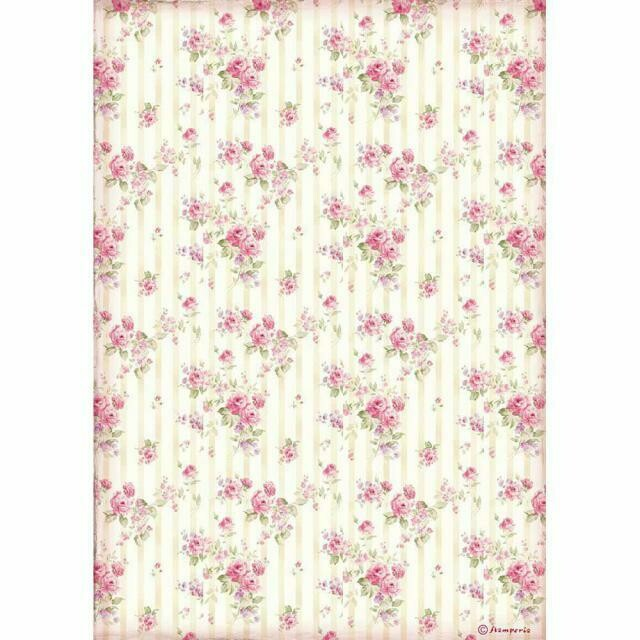 Rose Wallpaper - Sweety Collection - A4 Rice Paper - Stamperia